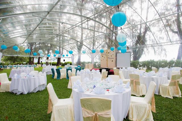 lone pine penang wedding transparent marquee lantern