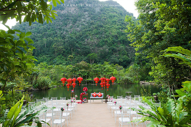 The Banjaran Hotsprings Retreat wedding ceremony