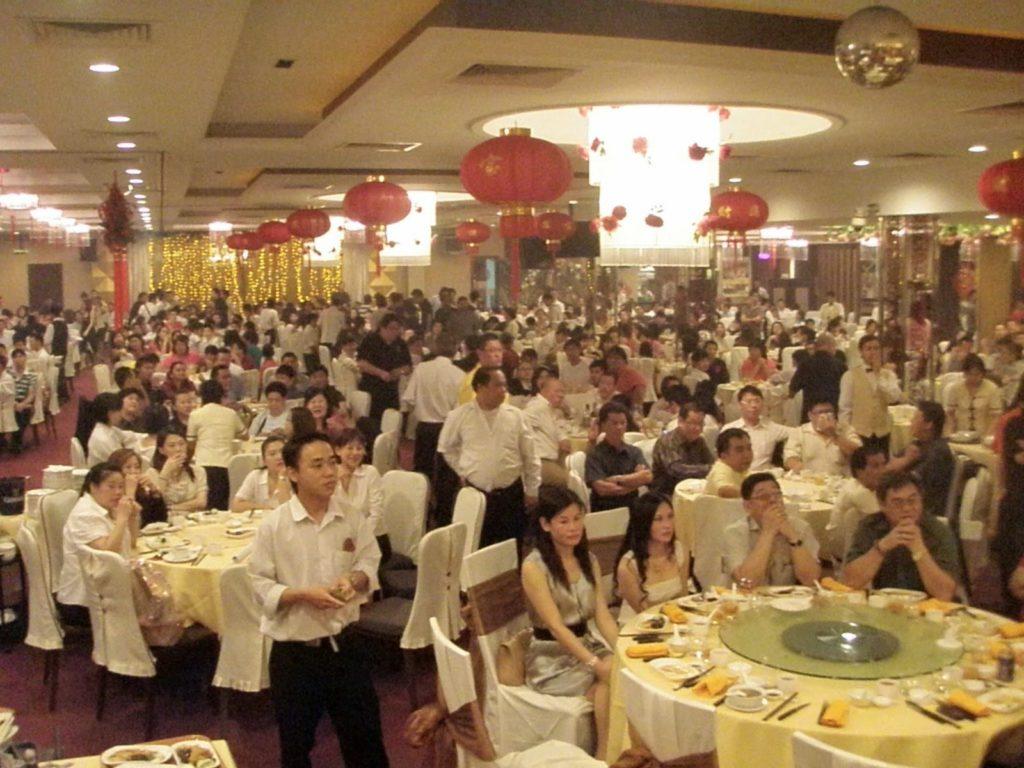 crowded big wedding