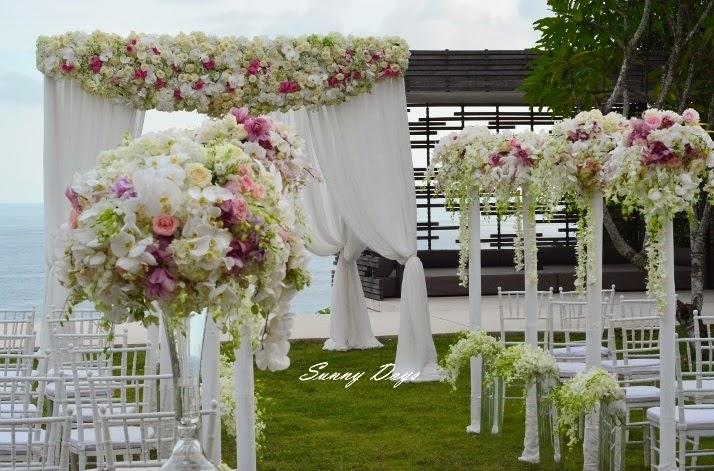 wedding ceremony at a garden