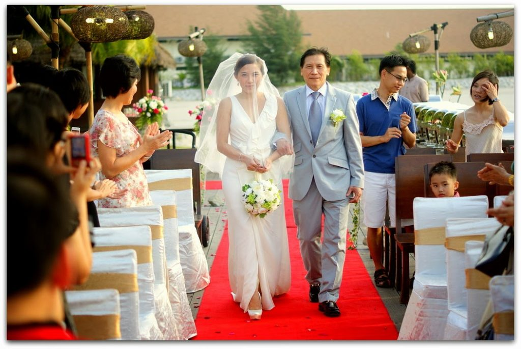 walk down the aisle on the beach deck garden wedding sepang malaysia
