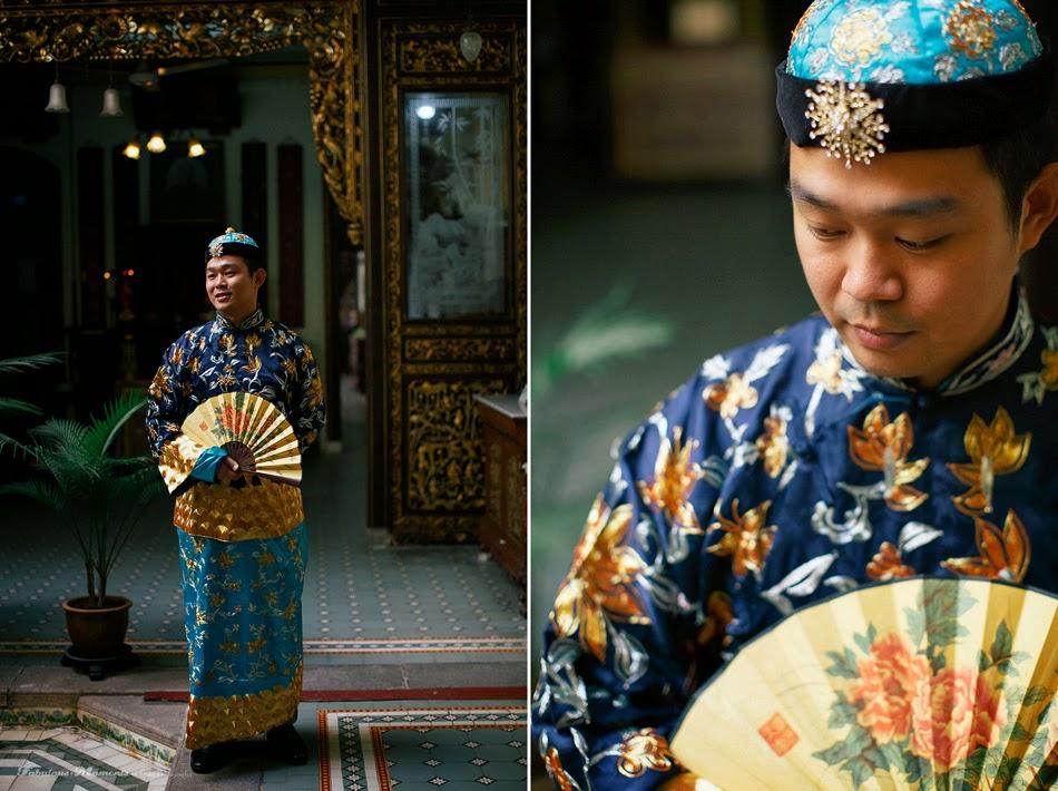 topi fan chinese malay fusion sarong shirt
