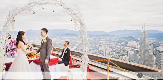 Wedding vows KLCC view