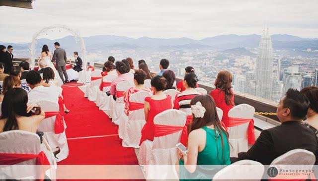 romantic sky wedding Malaysia