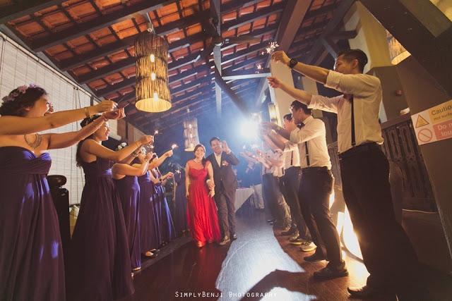 sparklers wedding Malaysia