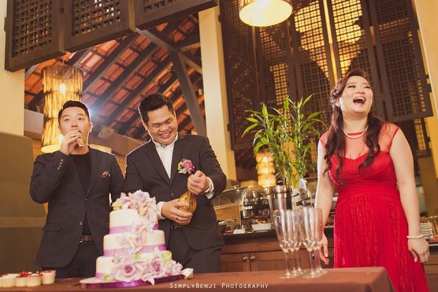 Cake cutting wedding Malaysia