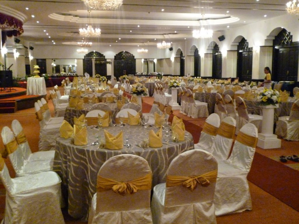 carpeted with table chair covers