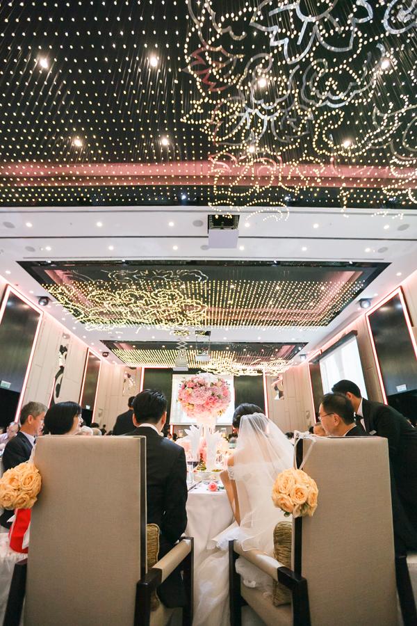 crystal flower ceiling hotel wedding KL
