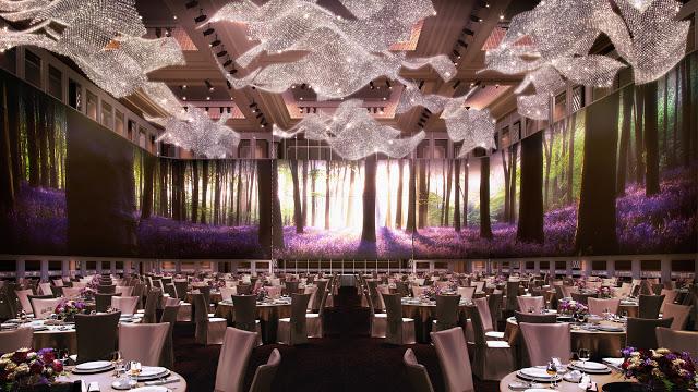 st regis kl ballroom wedding crystal chandelier