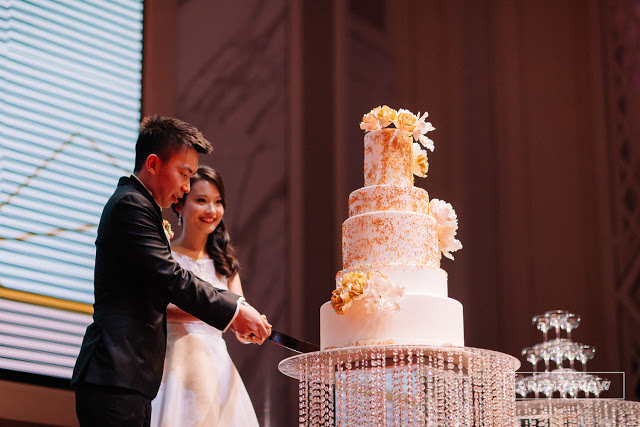 5 star wedding cake cutting KL