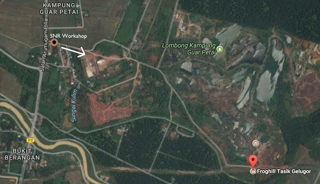 ariel view map froghill penang