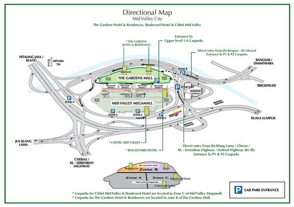 different entrance zones