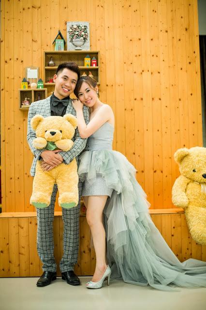 holding teddy bear