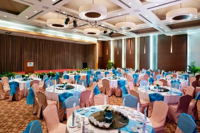 blue pink theme ballroom Holiday Inn Shah Alam subang Glenmarie
