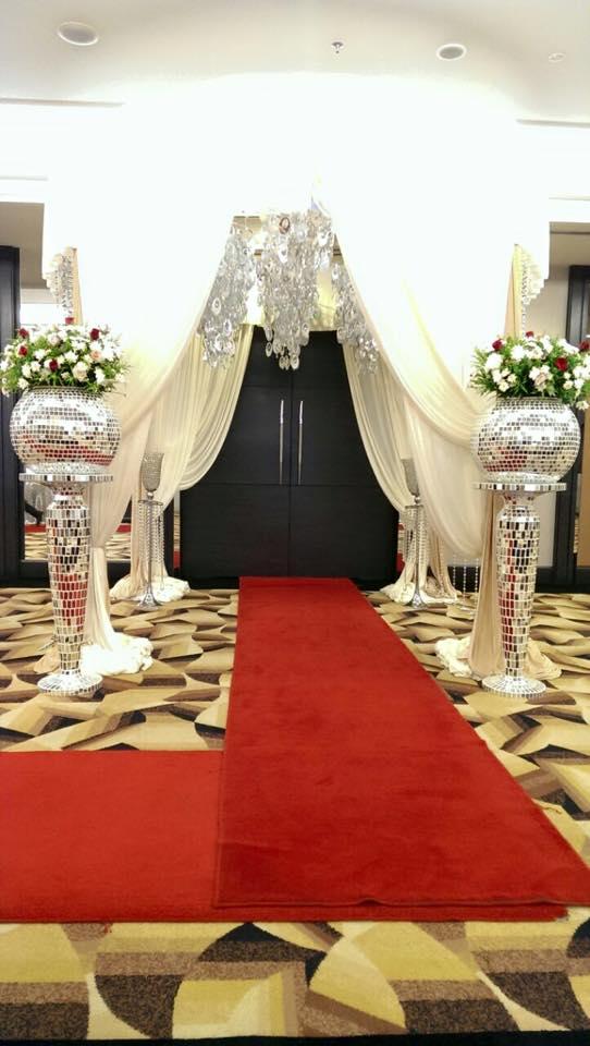 grand entrance flower stand grand malaysia decor