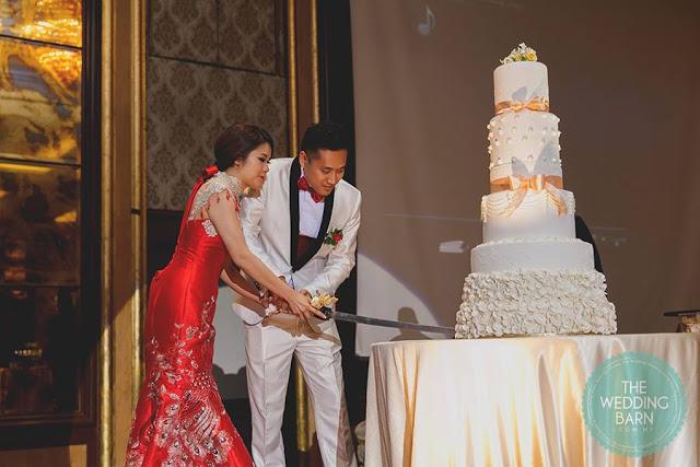 cake cutting malaysia white wedding