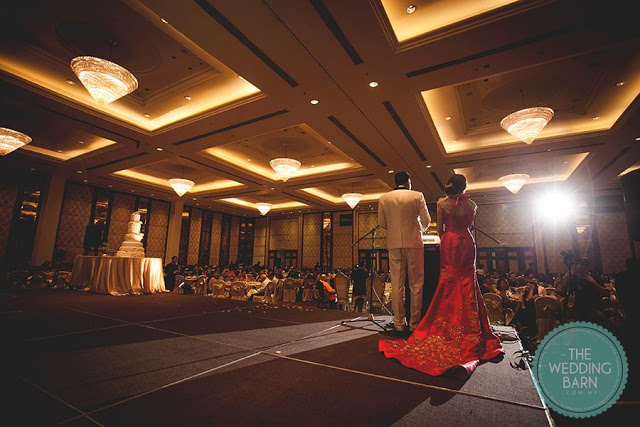 view from the stage ballroom grand dorsett subang wedding
