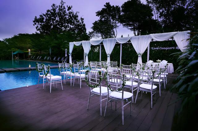 poolside wedding grand dorsett white setup subang selangor