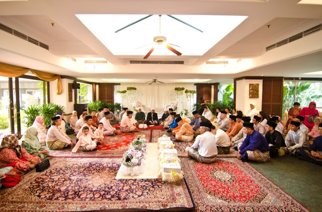 akad nikah, purple red carpet holiday villa subang