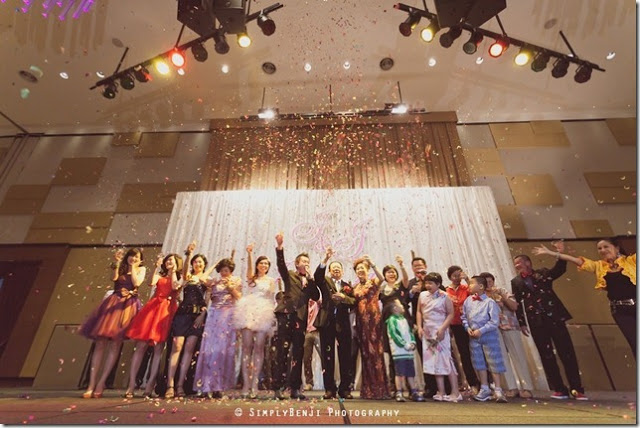 stage confetti celebration wedding premiere hotel klang