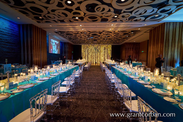 ceiling with circles grand wedding KL Hilton