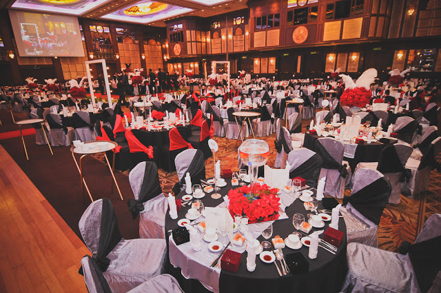 sunway hotel black red theme wedding
