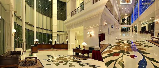 floral floor grand lobby royale chulan wedding