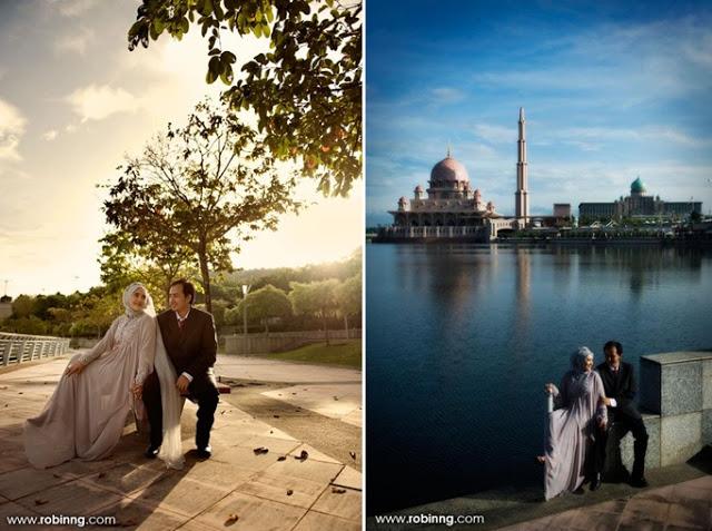 malay wedding couple