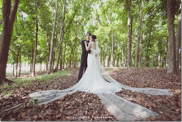 Putrajaya wedding photo at the garden
