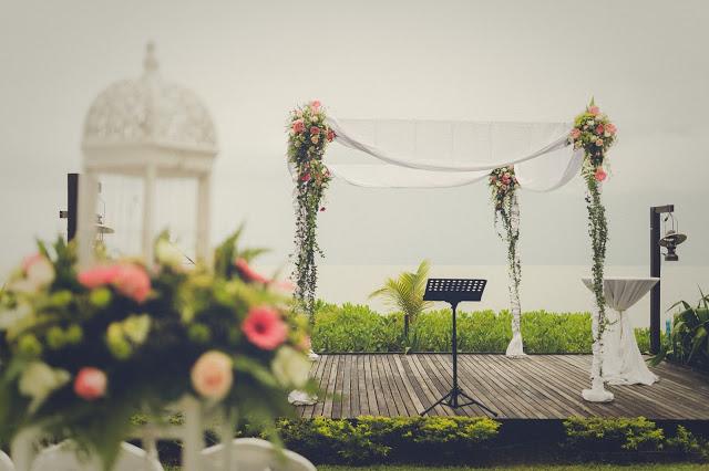 flowers wedding arch