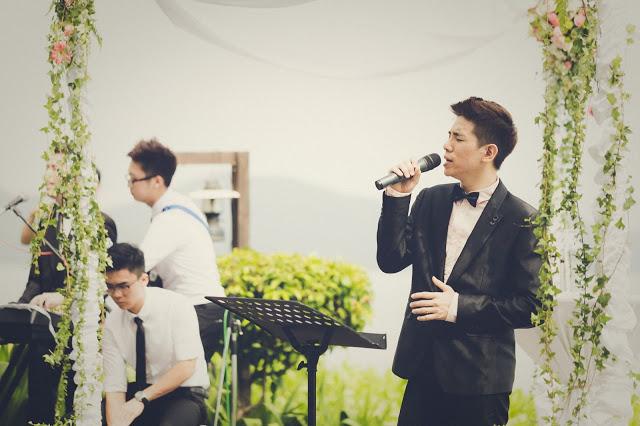 wedding singer in suit