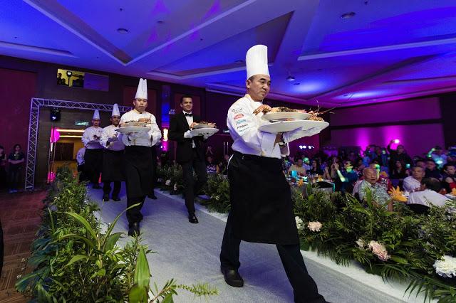 first dish is served Ixora Penang wedding