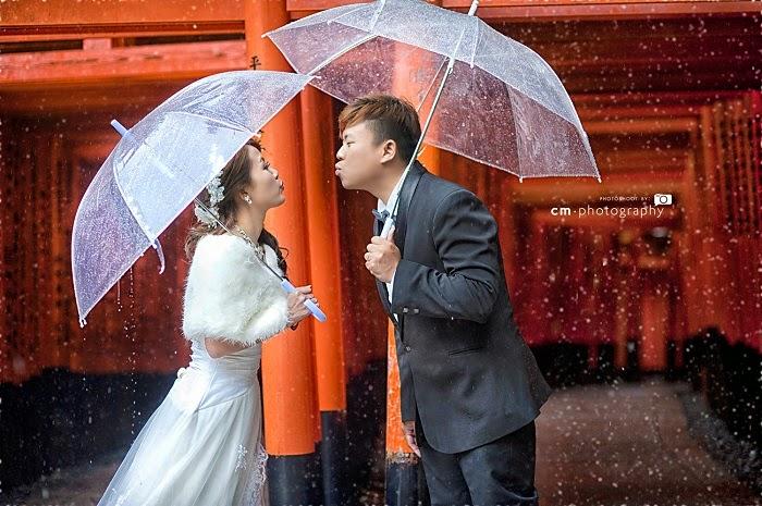 transparent umbrella mink dress