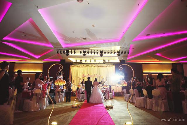 pink led Ixora Penang wedding
