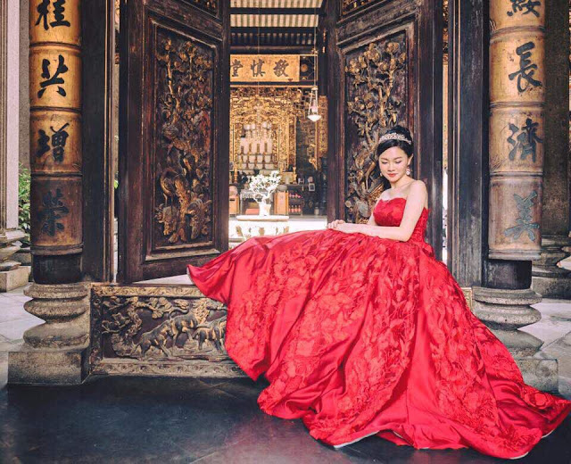 european red gown