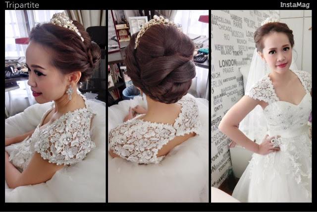 ballgown floral lace
