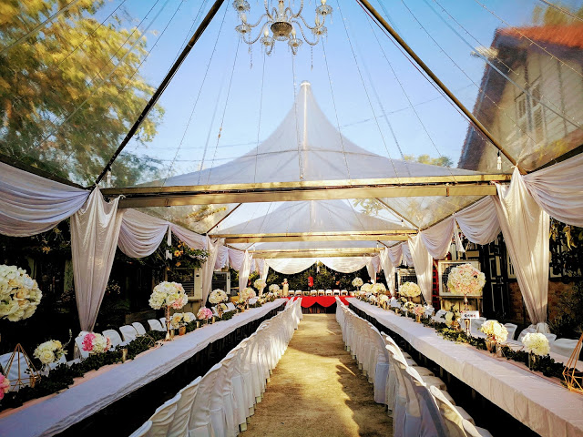 England House penang wedding romantic transparent tent