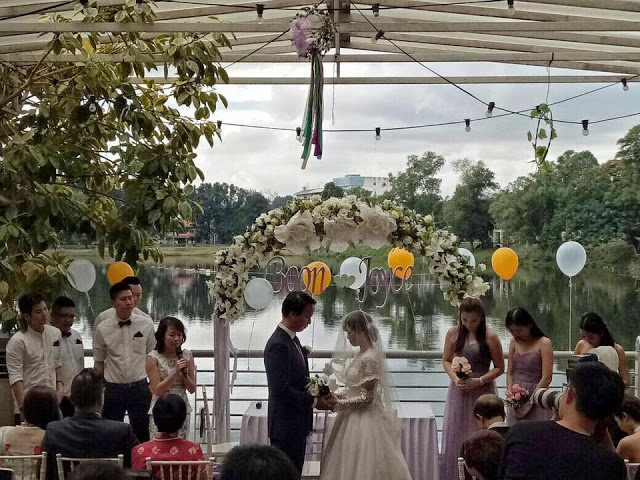 wedding with a lake view PJ
