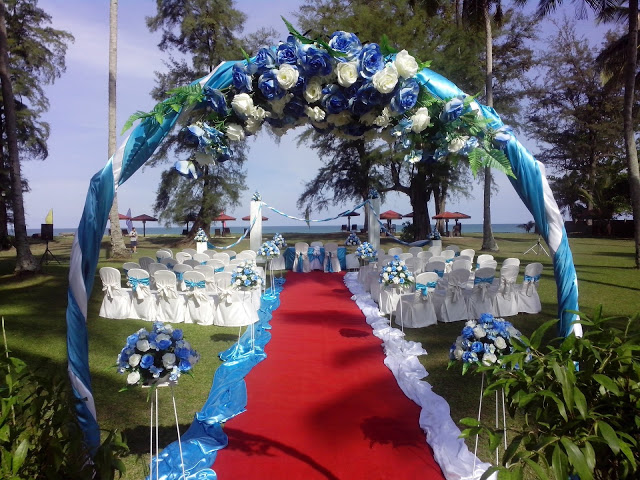 Holiday Villa Cherating garden beach wedding