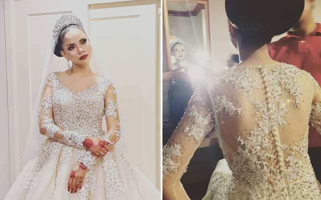 malay wedding gown
