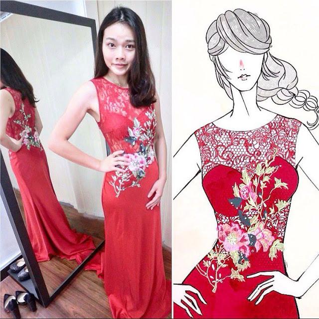 chinese wedding gown modern kl