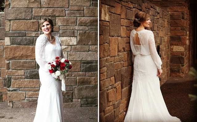 mature wedding gown
