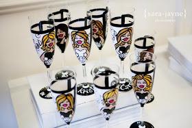 caricature wine glass