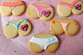 lingerie party cookies