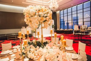 red by sirocco centrepiece table deor wedding
