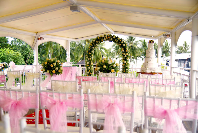 sheltered outdoor wedding Sutera Harbour Resort KK Sabah