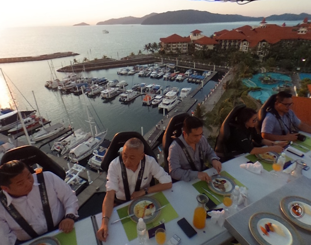 dining in the sky sutera harbour resort sabah