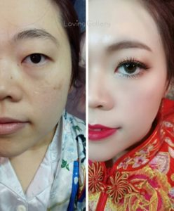 before after bridal makeup malaysia