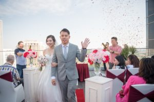 Rooftop Wedding Ceremony Photography