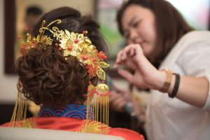 hair piece for traditional Chinese wedding